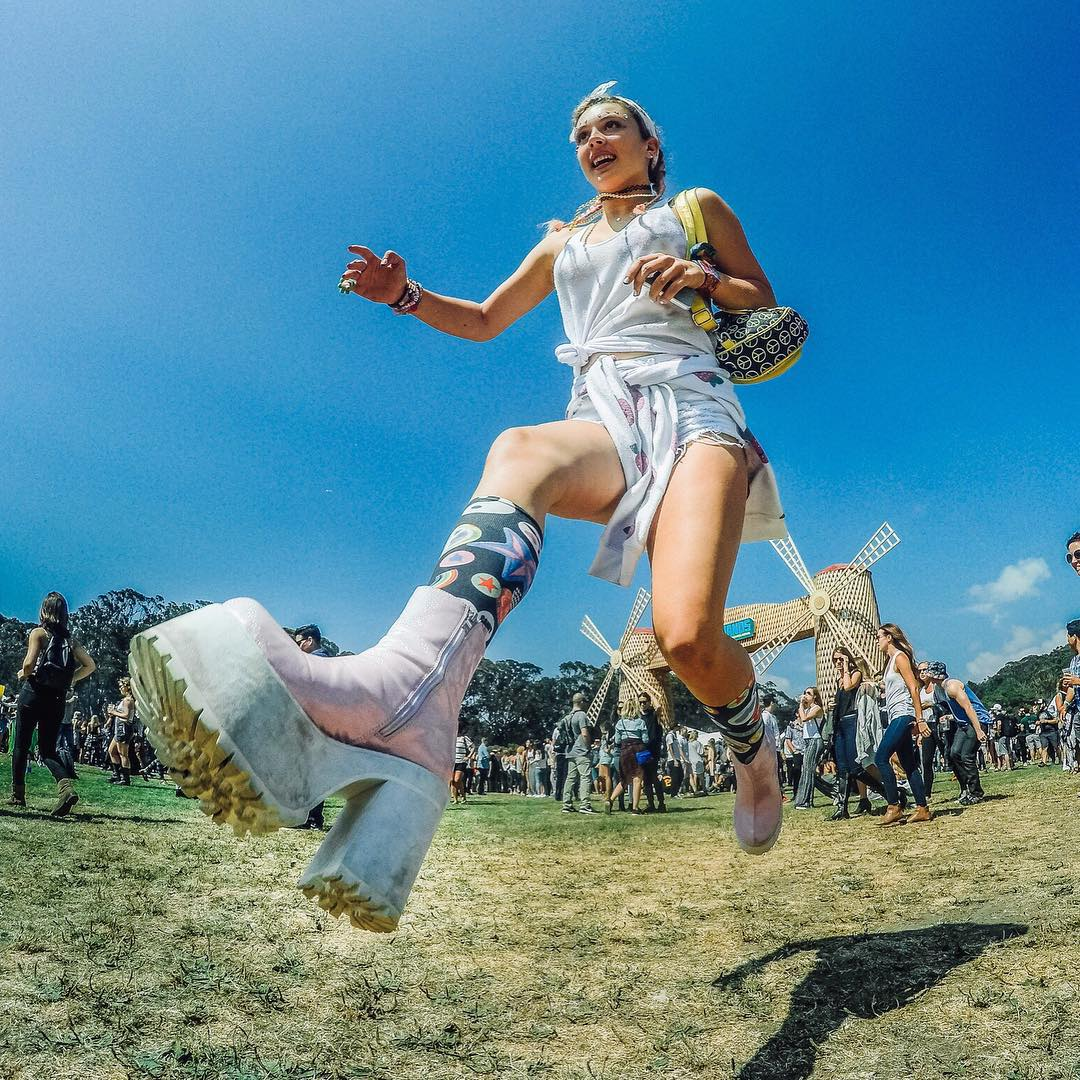 We're ready to jump into day 2 of @outside_lands, are you?  Photo by GoPro photo ambassador @mishavladimirskiy. Follow his journey through Golden Gate Park all weekend. #GoProMusic #OutsideLands #SanFrancisco #Jump