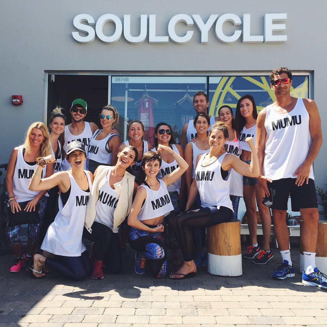 Super fun cardio party with our friends from @showmeyourmumu @koralactivewear at @SoulCycle #Malibu today with 100% of class proceeds benefiting B4BC's education + prevention programs! Many thanks to all who came out & supported! #behealthygetactive...