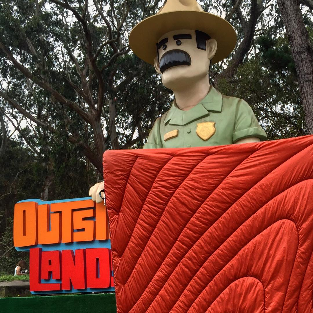 "Ranger Dave says, ""Go to the Rumpl booth at Outside Lands!"" Trust us, friends, it's going to get cold tonight!"