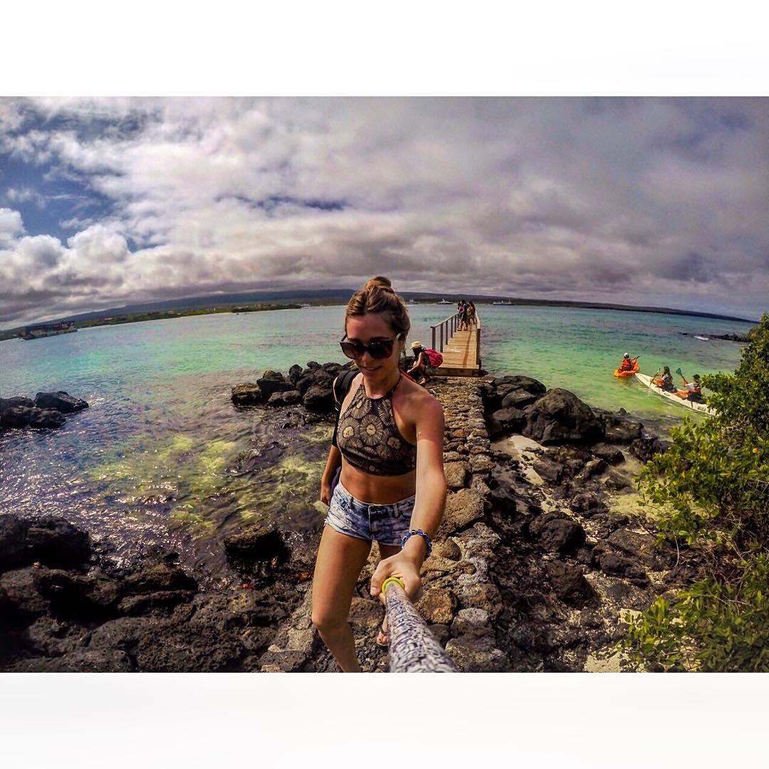 @rosarioiturria con su #ZephyrPole en #Galápagos!! - Que esperas para tener el tuyo??