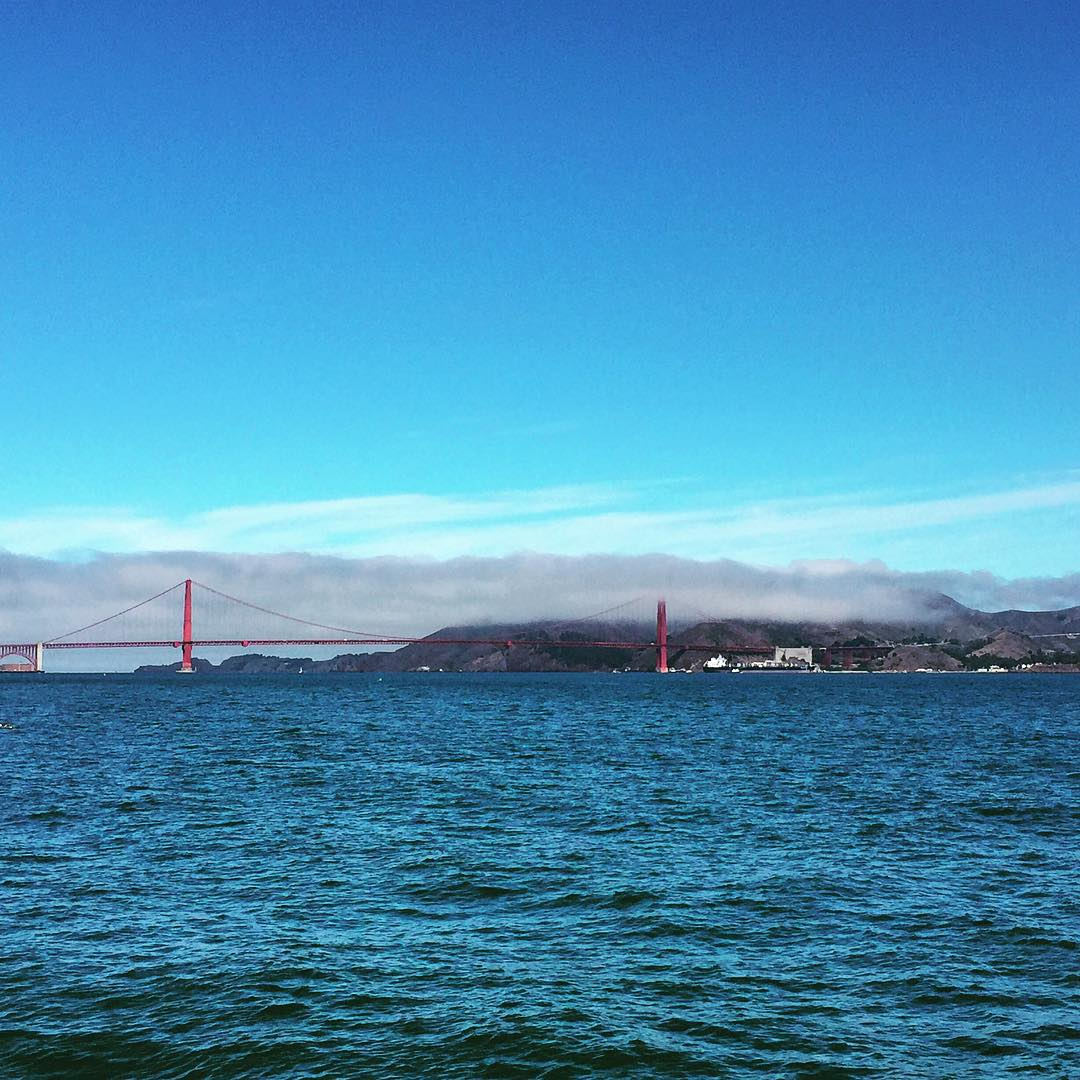 San Francisco Fog on point CC: @karlthefog @mytinyatlas #sanfrancisco #sundayfunday #mytinyatlas #goldengatebridge
