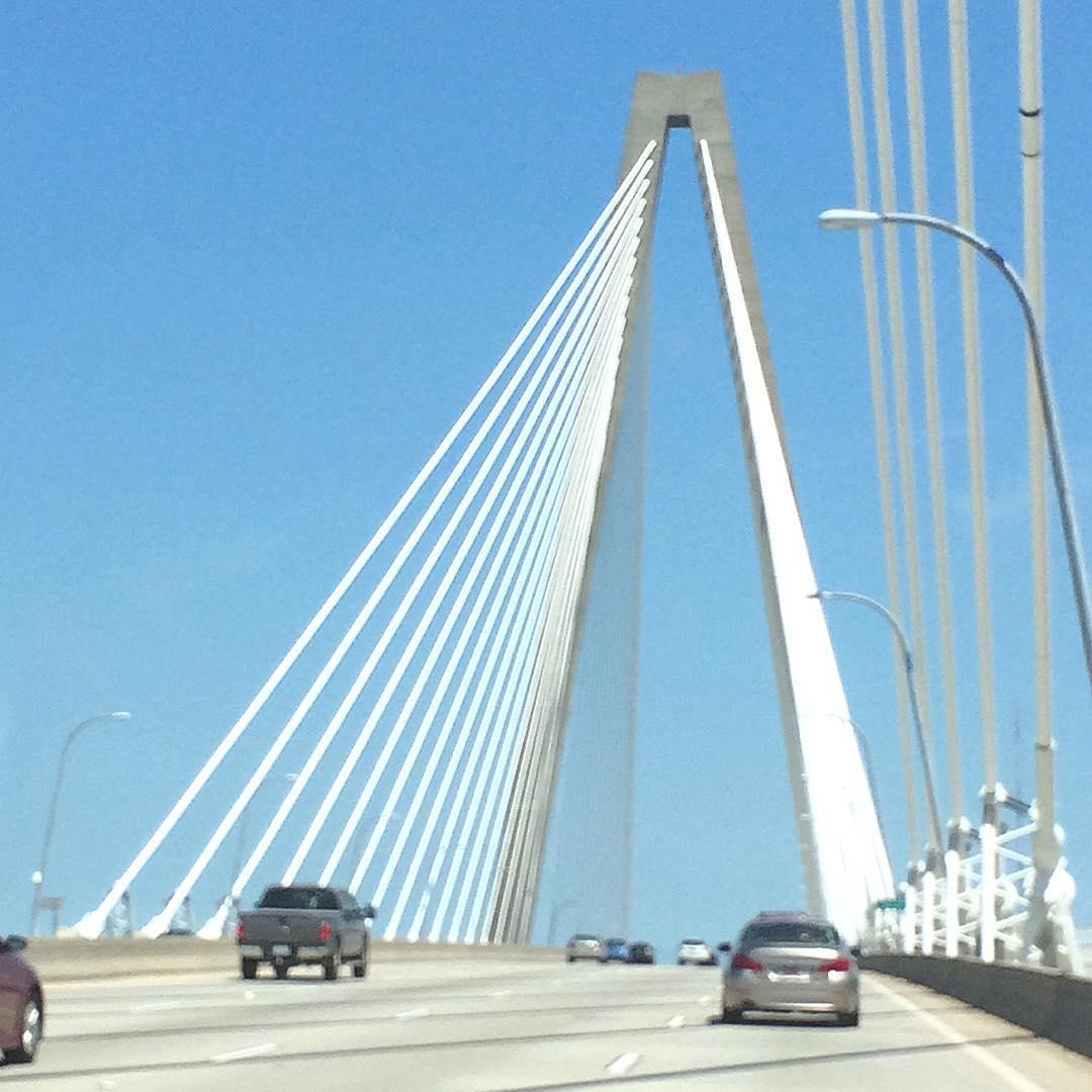 The Arthur Ravenel Bridge, Charleston, SC. #charleston #sc #uluLAGOON