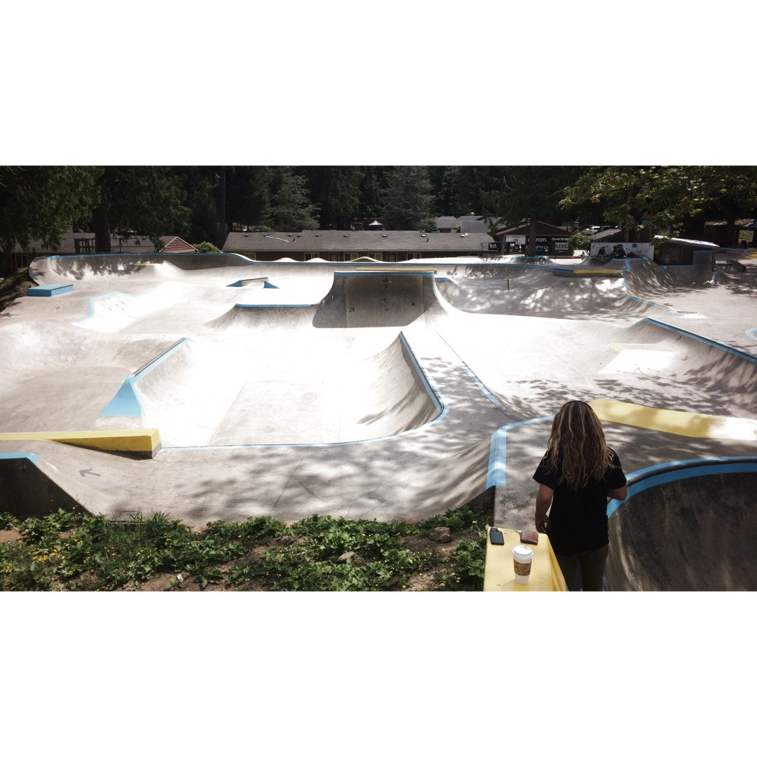 @camrev33 scoping out @windellscamp for the early morning session. #sk8north #skateboarding #caliberstandard