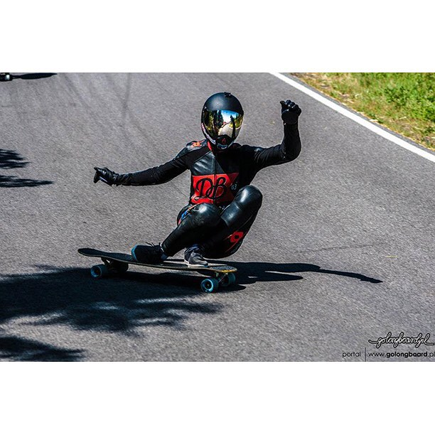 A sit down slide at Kozakov with team rider @patrick_lombardi on the Keystone 39! (Photo by golongboard.pl) #dbkeystone #kozakov #longboard #longboarding #longboarder #dblongboards #goskate #skateboard #skateeveryday