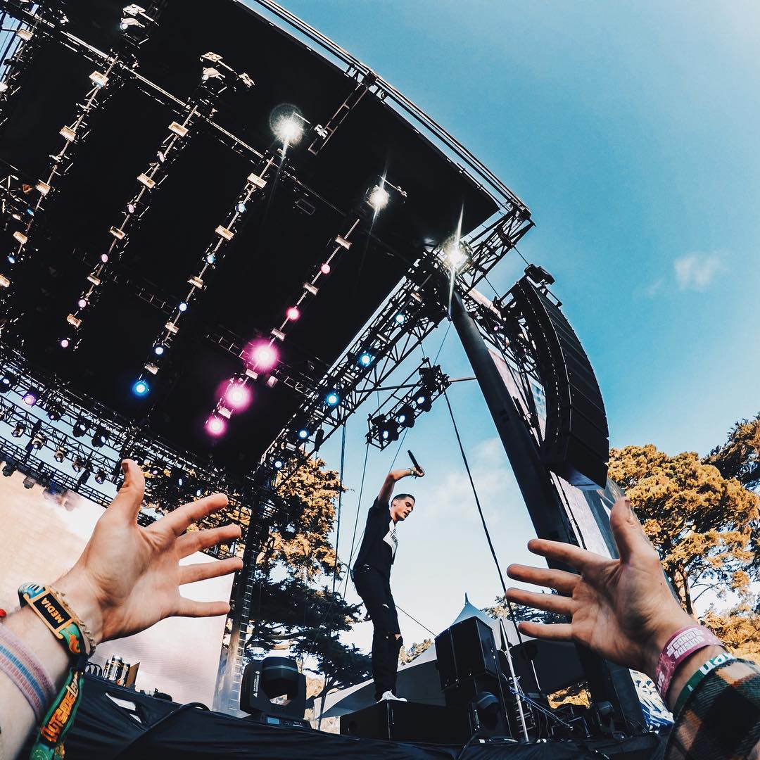 Caption this shot of @G_Eazy at @Outside_Lands for a chance to win a HERO4 Session! Photo by @downcomfort.  #GoProMusic #OutsideLands #LiveOutside #SanFrancisco