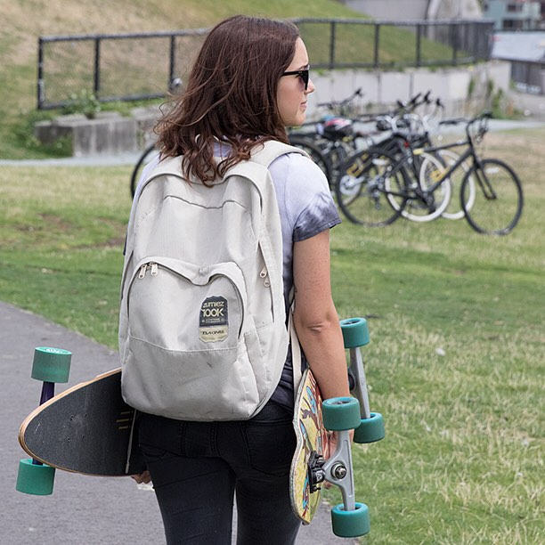 Why ride a bike to school when you can skate? We just launched our Back to School Sale at DBlongboards.com featuring 20% Off on Apparel and Up To 45% Off On Select Longboards! #dblongboards #longboard #backtoschool #longboarding #skateboard #skate...