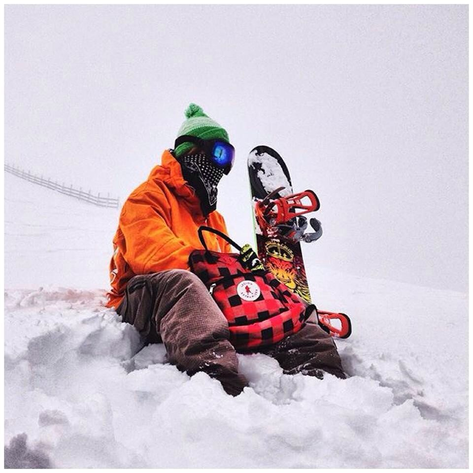 @luchomacchiavello on a snow searching adventure for shred freedom. Go get it!