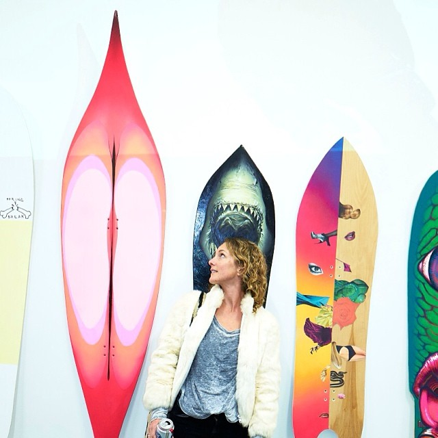 Yes, Pete Saari's board really is called The Grand Opening. #neondazeandwinterwaves exhibition at @cescontemporary runs through Feb. 22nd. Check out some very original works of rideable art and see The Grand Opening in life size.
