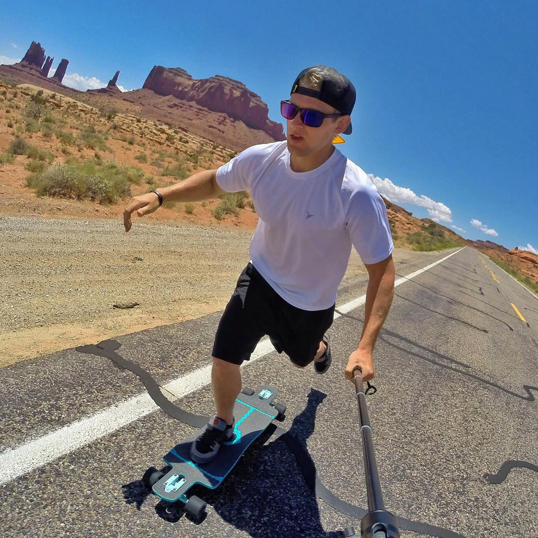 Looks hot, but such a cool shot! We love go-pros! Where is your favorite spot to ride?