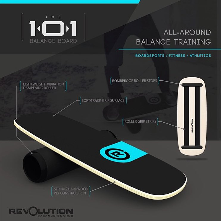 Check out our 101 #balanceboard (used in our previous post) A great board for anyone starting out or anyone looking to add a little balance training into their routine. Better balance can drastically improve your boardsports and athletic skill and...