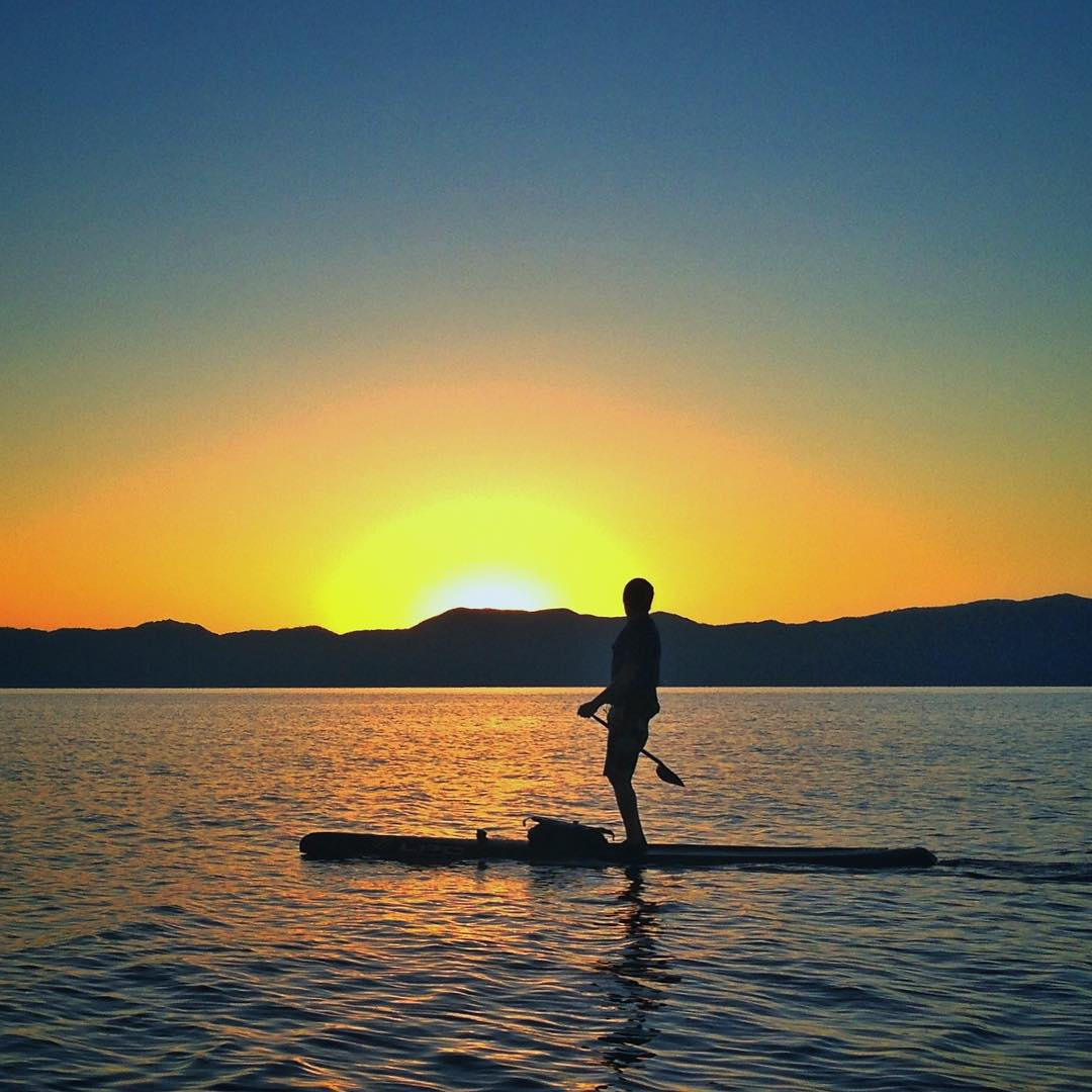 "Everyone in the #ChoosePositivityNow camp is sending huge #MadLuv and Gratitude to this guy... #AdamFreeman a.k.a. ""FreeBird"" was my training partner all summer for the #H5FullCircle fundraising paddle project around #LakeTahoe.  From #DawnPatrol..."