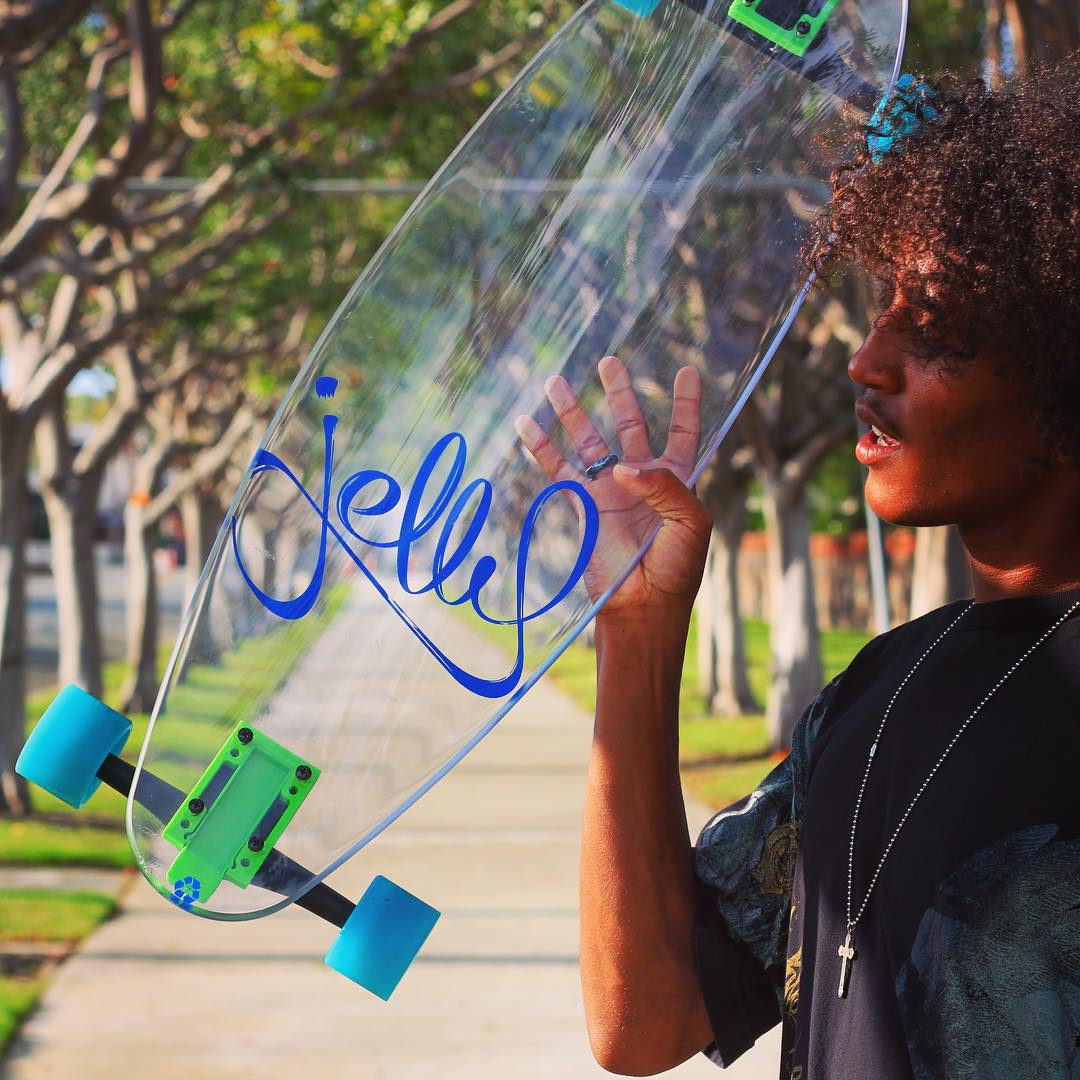 this dude! @zeyakemon #jellyskateboards #blockrisers #jellymanowar #danapoint