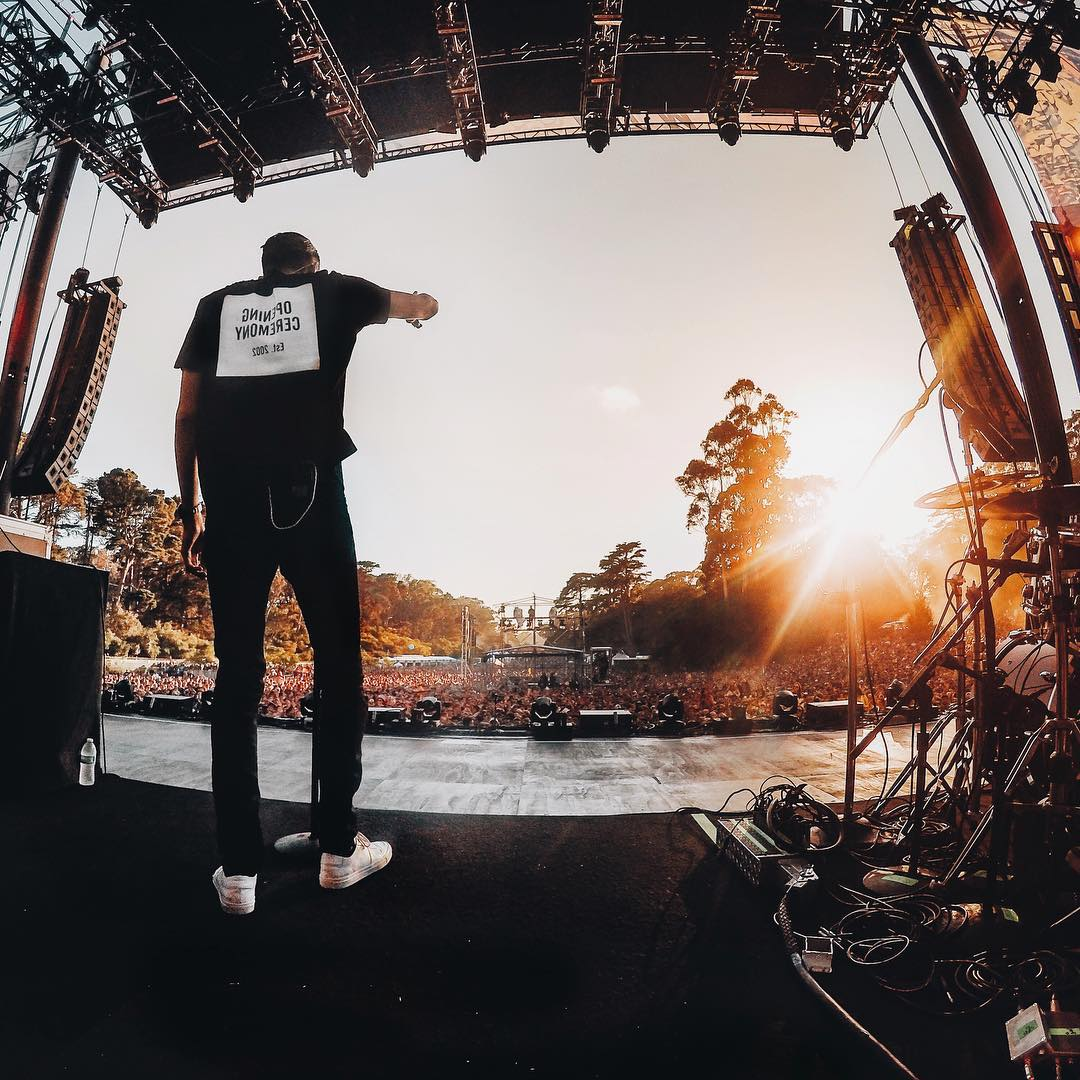 Wishing we were back at @outside_lands on this #MusicMonday with @G_Eazy and his hometown crowd.  Photo By @mishavladimirskiy. #GoProMusic #OutsideLands #OSL