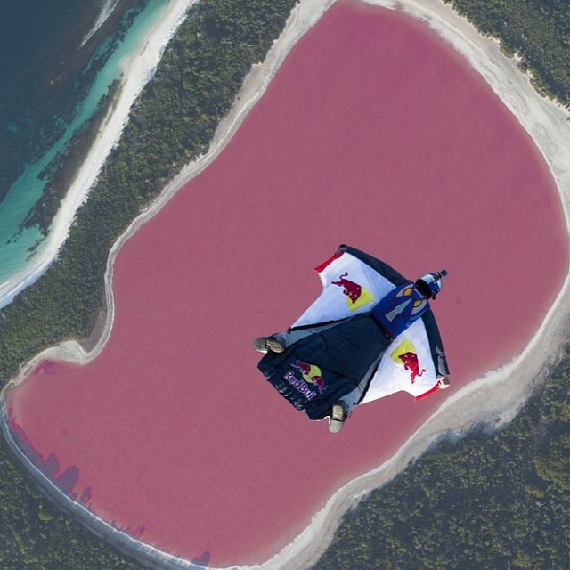 In the pink. #skydiving #chuckberry #givesyouwings