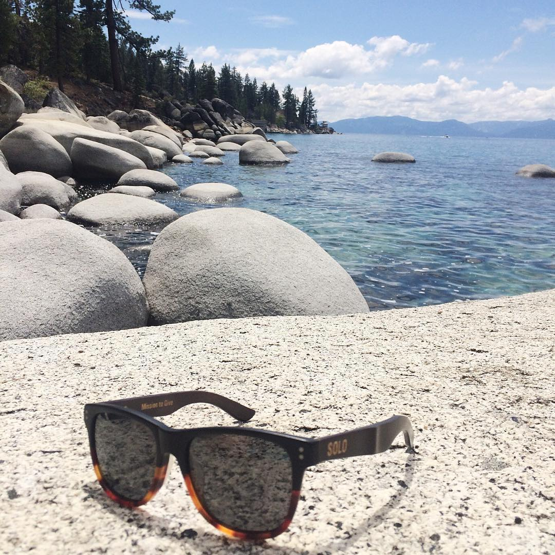 It's just another day at the lake, with Creative Ambassador @brian.walker's SOLO Thailands! #SOLOeyewear