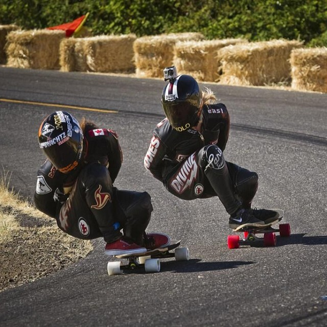 These two bosses. Go check www.longboardgirlscrew.com for a complete schedule on 2014 European & America events plus a selection of some or our favorites 2013 female racing momentos. Shout out to @leecation & @beee4life for their amazing recap job on...