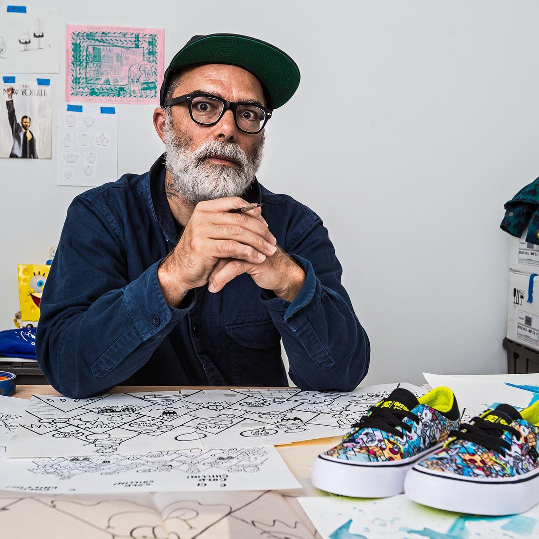 We're excited to have partnered with internationally renowned artist @klyonsnatborn for a second collaboration. This time around, Kevin lent his incredible talent to designing signature artwork for kids footwear. DCShoes.com/DCXKevinLyons #DCshoes