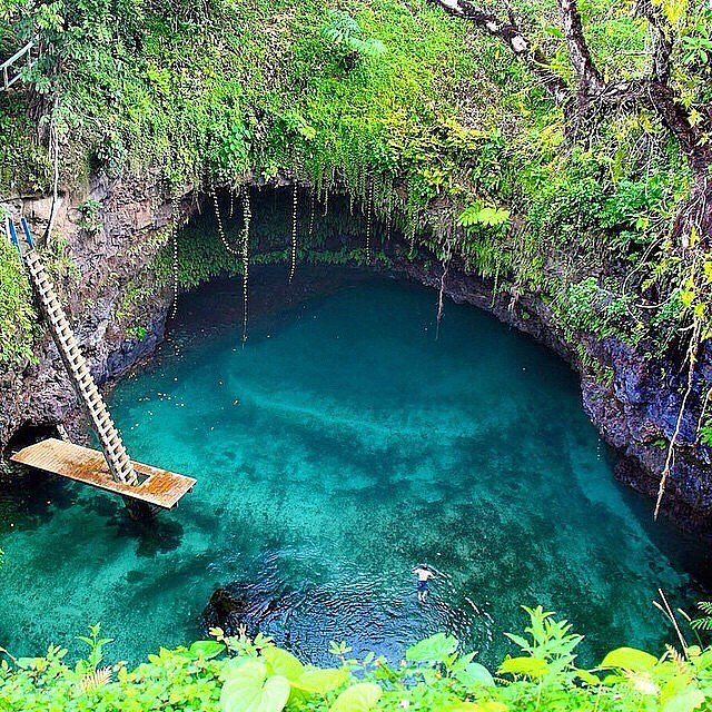 """We travel not to escape life, but for life not to escape us."" Where do you dream of traveling?  #bookaticket #wanderlust  #traveltuesday #adventure #escape #explore #samoa #travelingpants #OKIINO source: @theawesomeplaces"