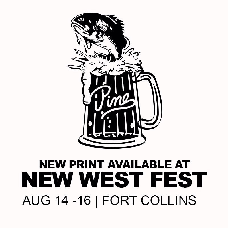 This weekend is one of our favorite events of the summer: New West Fest. We'll be posted in Old Town Fort Collins Saturday and Sunday printing tees on site!  We're debuting a couple new prints as well as some pieces from our fall line. Come hang out...
