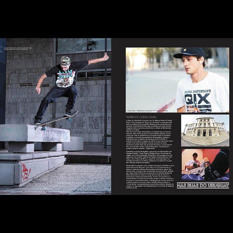 @thiagopingo está na @revista_solto deste mês. Na matéria, Pingo relata como foi sua viagem de dez dias pela cidade de Montevidéu, Uruguai. Saiba mais em www.qix.com.br  #qixteam #qix #skate #skateboard #skateboarding #Montevideo #Uruguay...