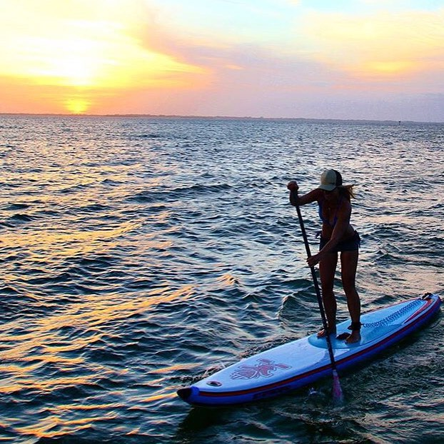 #miolagirls paddle the day away || sunset on the sea with ambassadress @urbanoceansup || #getoutthere #supeverydamnday #miolawesome
