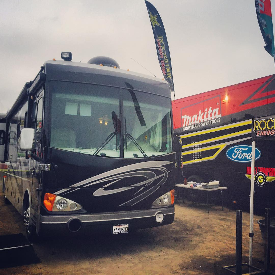 Just want to say thank you to Corona motorhome rentals for keeping me comfy at this last race in Mexico.