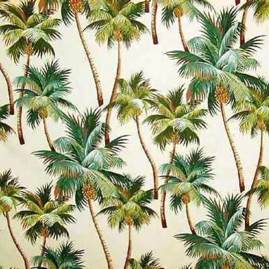 Let's get (coco)nuts // Waikiki palm trees on bark cloth #findyourcanvas #AllSwell