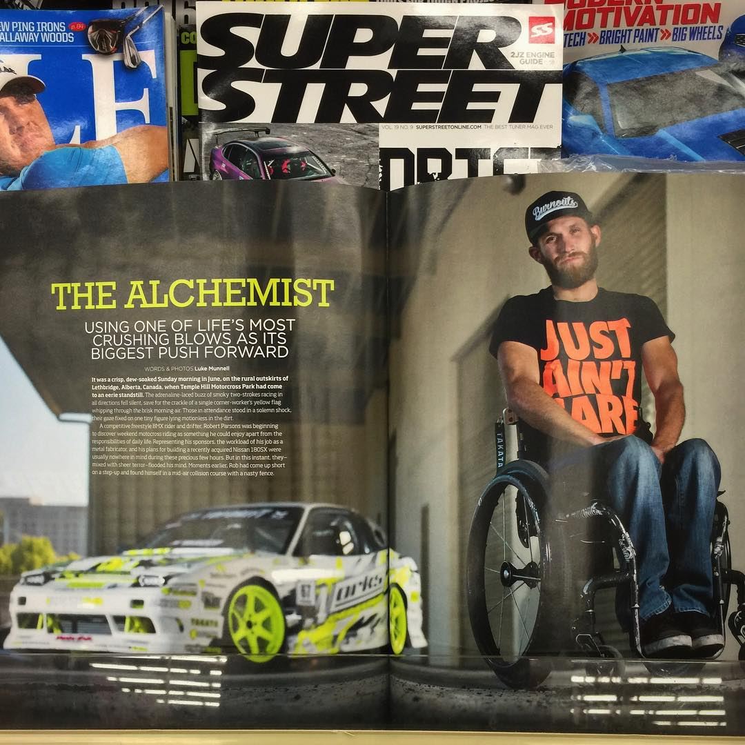 Check out our man @chairslayer in the newest issue of @superstreet. Rad feature on Rob's inspiring story his s13, and new #chairslayerfoundation to help others overcome setbacks and do AWSM things. #pma
