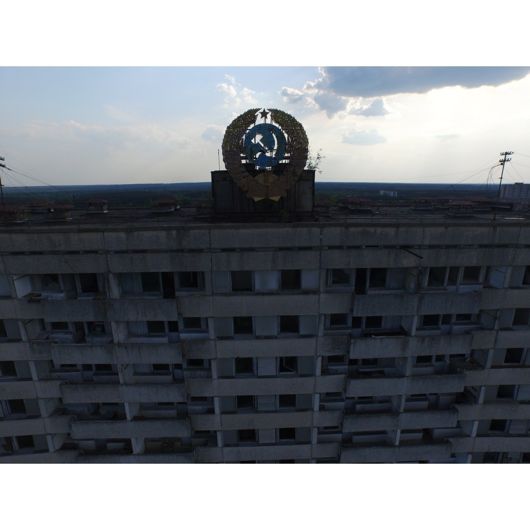 Everybody was told, it was a small accident, it'll be a day, day and a half.  The town was evacuated, nearly 50,000 people in 3 hours.  This used to be a city and there's nothing here anymore.  Learn more: http://bit.ly/DJIchernobyl  #DJI #Phantom3...