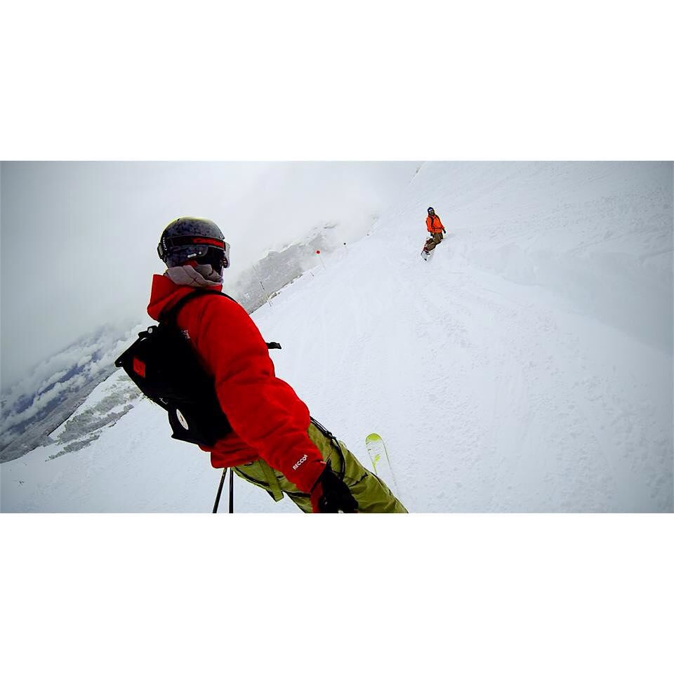 Fresh snow & a new search for adventure with @joseubertalli crew