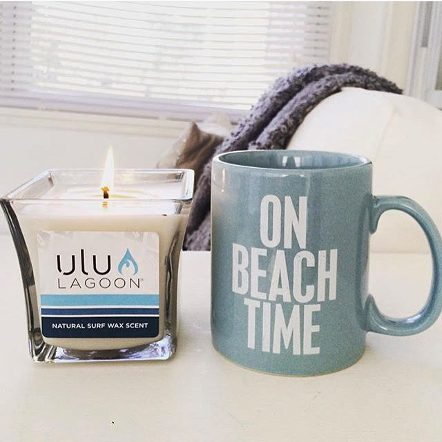 The 16 oz Surf Wax Scented Jar.  Regram @cvuocolo15 A Couple of favorite things! Thanks for the awesome post! #uluLAGOON #beachculture #instagood #surfshops #surfculture