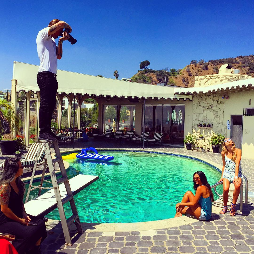 Behind the scenes look at our Spring '16 photoshoot in #hollywoodhills yesterday