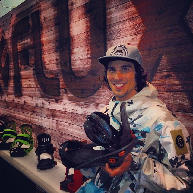 @scottyvine came by our spot at #SIA14 to say hello to his new bindings. #SF #thefluxlife