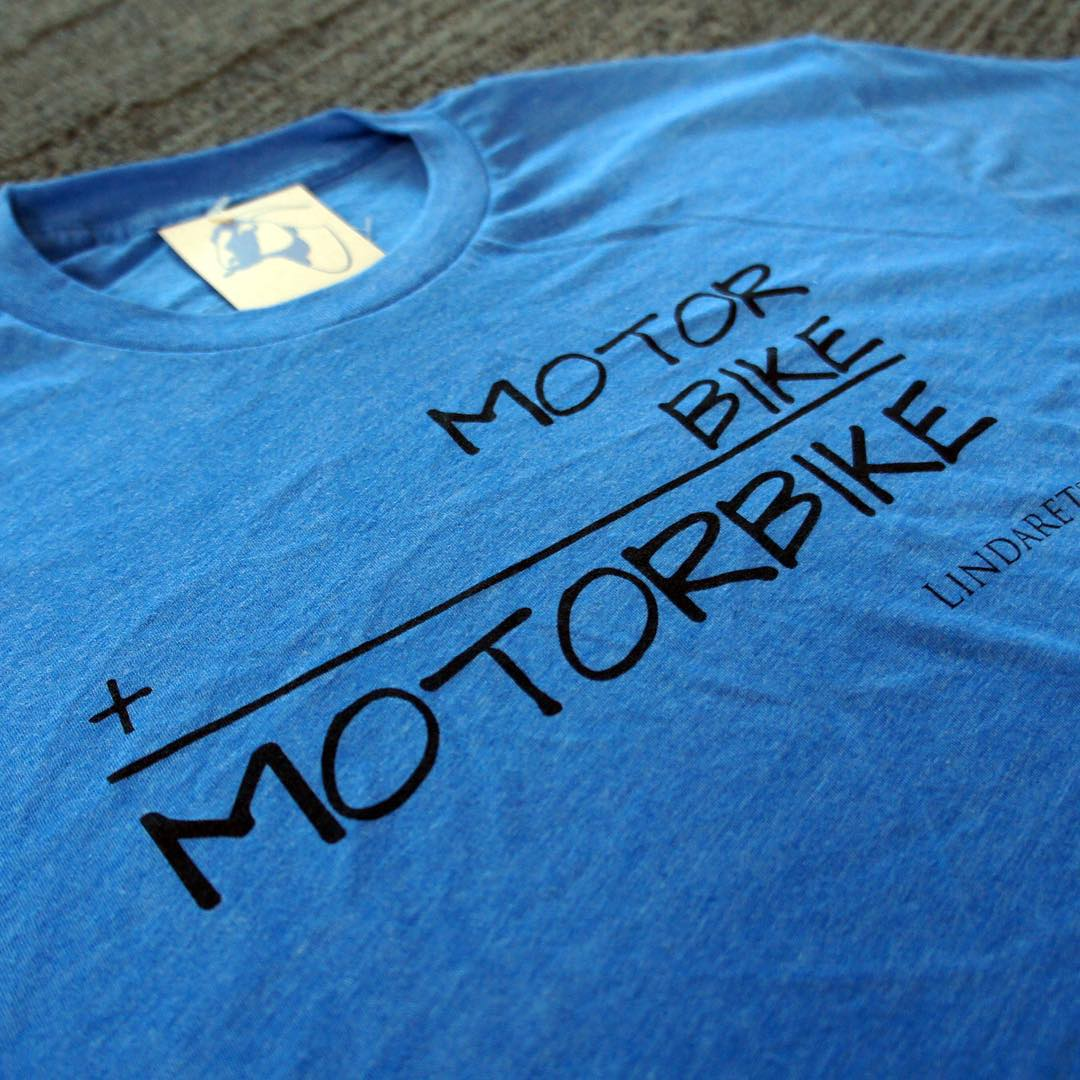 Our friends at Linderates just printed these funny Motor + Bike = Motorbike shirts to help raise awareness for the issues electric mountain bikes may pose to trail access.  Personally? We don't care what you ride as long as you're out riding. #Brap