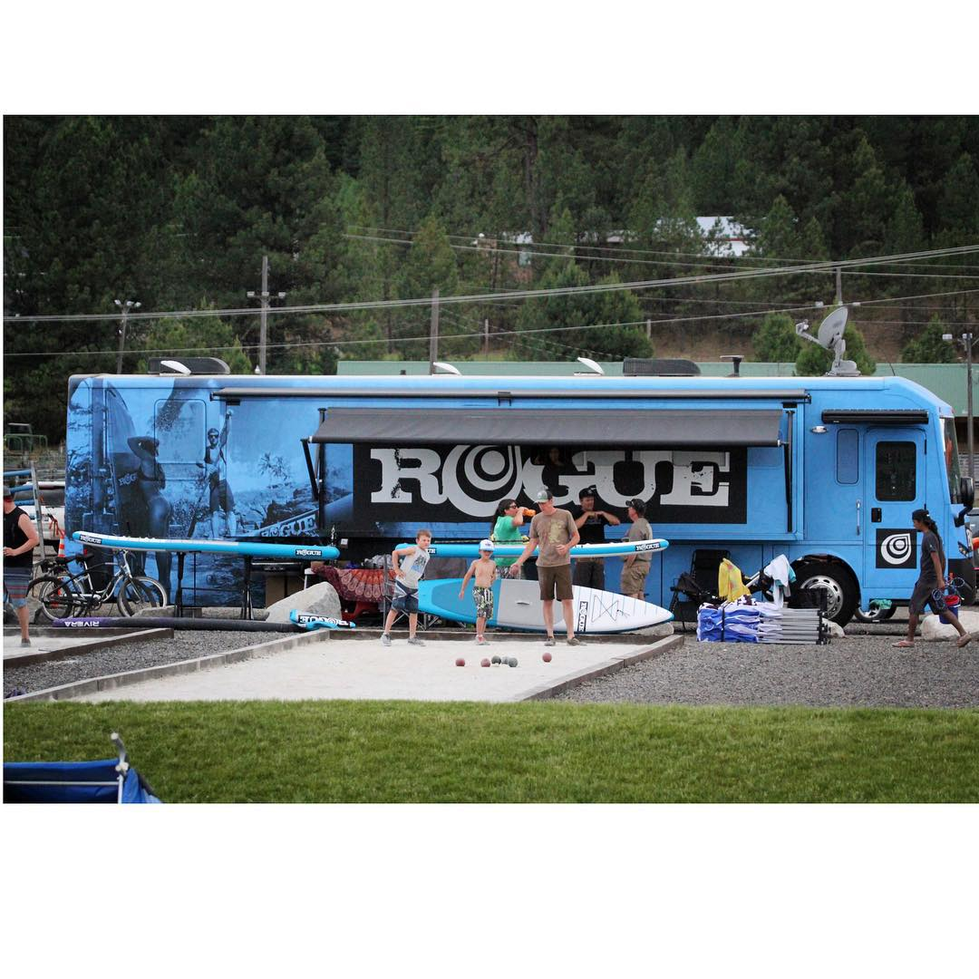 ATTENTION: The Rogue Trips next stop will be tomorrow at Whitefish City Beach, MT from 4pm - 6pm. Rogue board demo + @paddlefishsports + live music + killer food truck @indah_foodtruck = an insane time! Don't miss out!