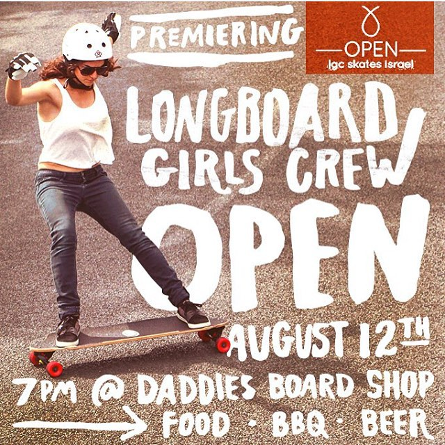 TODAY IS THE DAY!! @daddiesboardshop is hosting the highly anticipated OPEN screening in Portland!  Free bbq, free beer & free movie!  Be there at 7pm and join @cocomarii & @iamcindyzhou for the screening. So stoked!! #longboardgirlscrew #lgcopen...