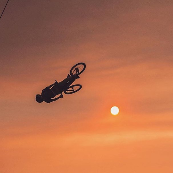 Epic shot of @nicholirogatkin flipping into the sunset last week.