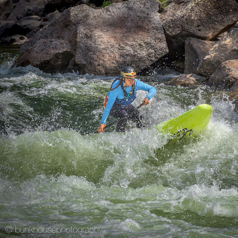 Dropping into the gnar on the Main Salmon River in Idaho. Such a fun river, a definite must see! @badfishsup @boardworkssurfsup #welivewater PC: David Masuda (Bunkhouse Photography)