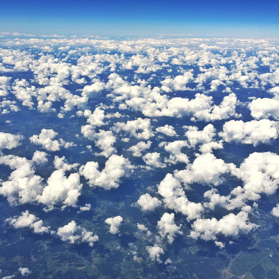 My view from a big germ tube in the sky while traveling over the Midwest. Next stop: Washington DC for round 7 of the #GlobalRallycross Championship. #cloudporn #travellife