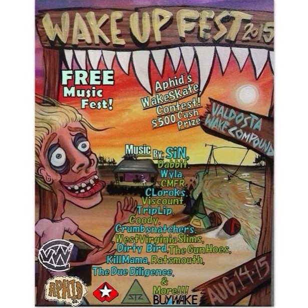 Headed to @valdostawakecompound WAKE UP FEST! starts tomorrow, FREE music, art, vendors, skating, camping and more. Plus the cables are spinning. Come hangout | ⛺️✌
