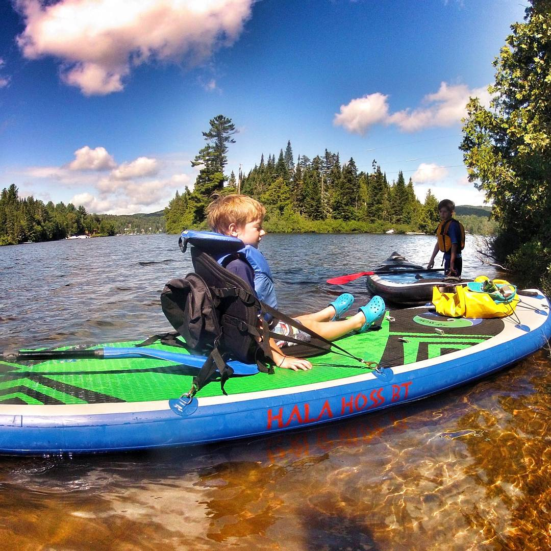 #halahoss with the kayak seat being used out on the lake in Quebec. PC Mike Lanthier #kidslovesup