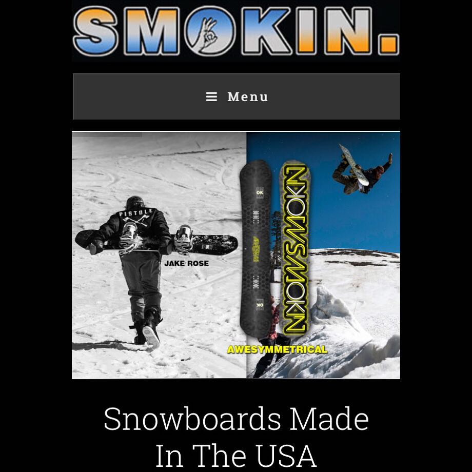 Our boy @rakejose421 kills it , check him and the rest of our team and new decks at our new website www.smokinsnowboards.com .