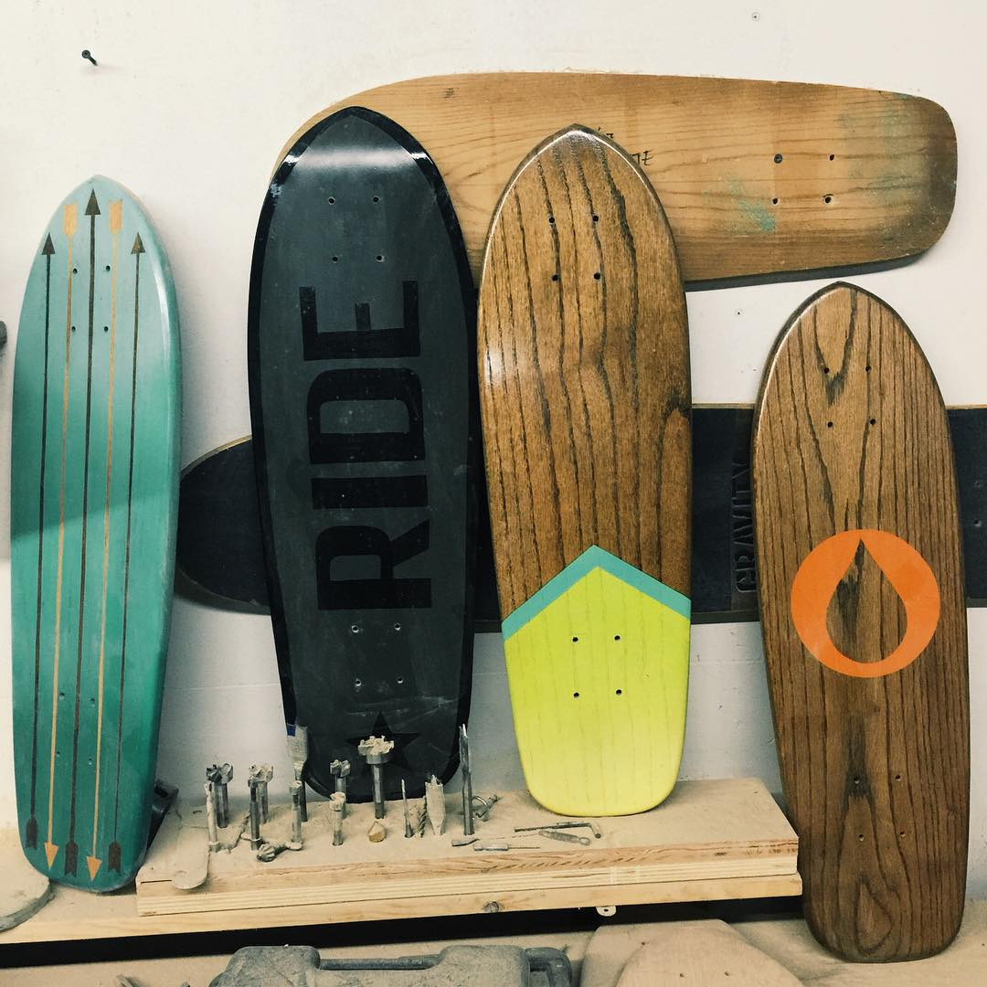 The shop is a little cluttered. #handmadeskateboard #nashville