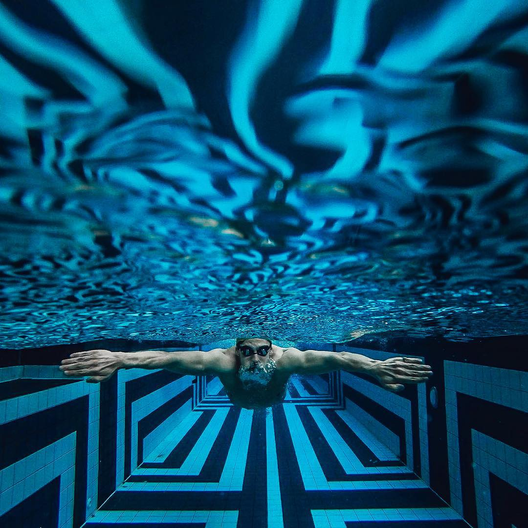 Photo of the Day! A new perspective on training, as @jack_smith_ swims in a cool indoor pool. Share your best images with us by clicking the link in our profile. #GoPro #Swimming