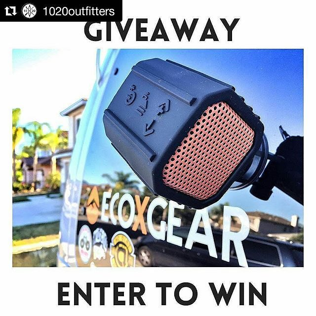 Awesome #giveaway opportunity from @1020outfitters for some sweet @Ecoxgear which includes a 100% waterproof bluetooth speaker.  How to Enter: 1) Follow @1020outfitters 2) Like and repost 3) Follow @Ecoxgear 4) Follow 1020 Outfitters on FB and like the...