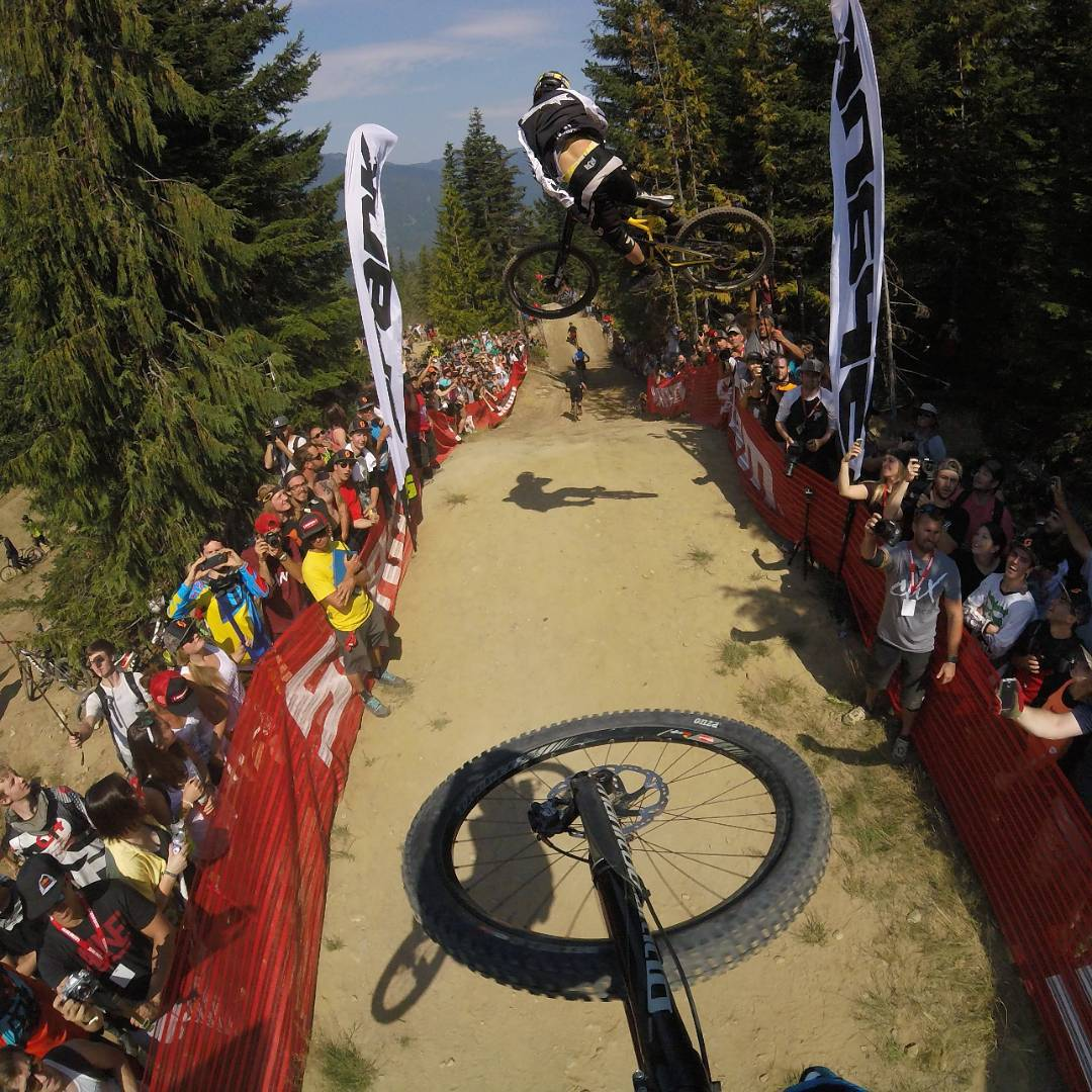 Whip-Off World Championship @whistlerblackcomb with @kurtsorge and @geoffgulevich getting sideways at #Crankworx! #GoPro #Whistler #Whip