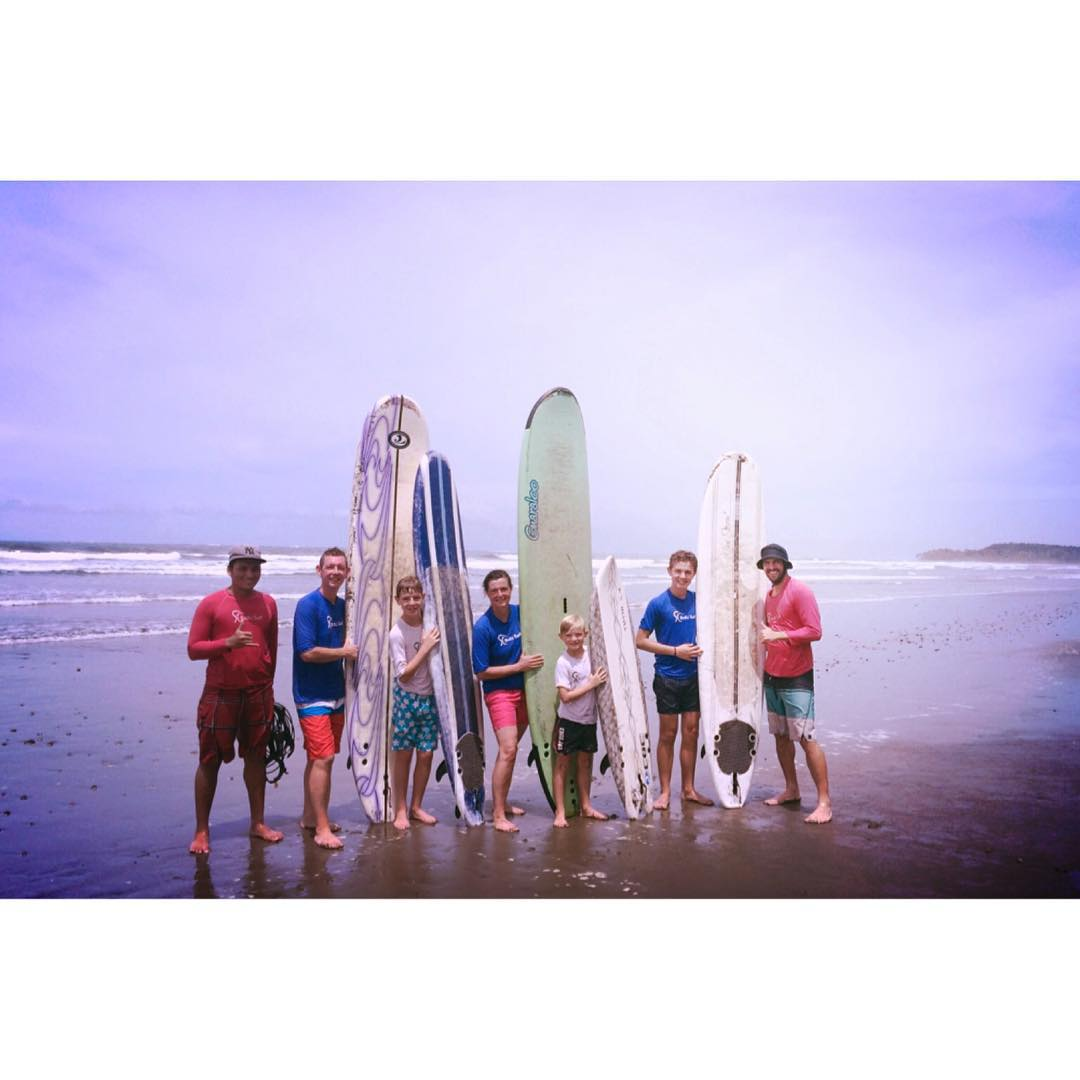 Great surf lesson with the Robinson family from England who are visiting Costa Rica for the first time! They were so inspired to surf again that they will be visiting Cornwall next summer, and will also enter our Ocean Guardian contest this year and...