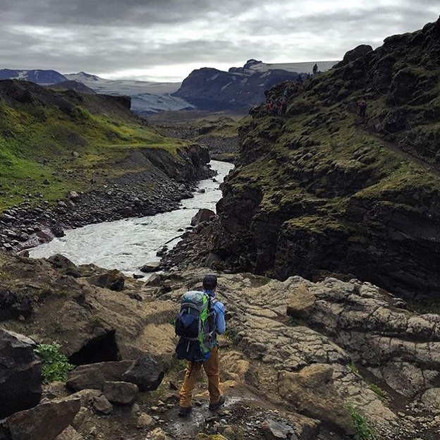 This is an Instagram post showing @tommerw312 enjoying Iceland. Wonder if he's sad he's missing the new Project Runway tonight? #MHMgear #PacksElevated