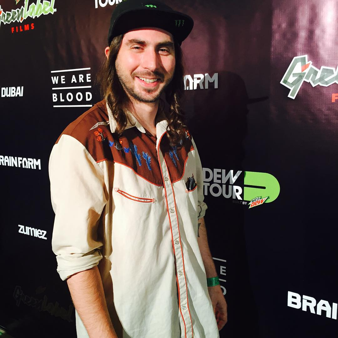 Captain Kass at the premiere of #weareblood #dewtour #greencarpet