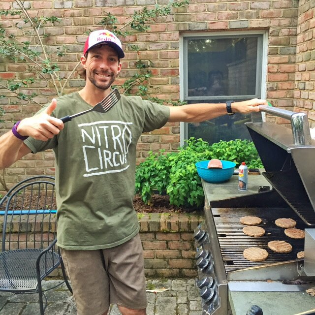 This dude cooked me and my family some dinner last night. Thanks for the BBQ/hospitality, @travispastrana! Stoked to come away from his place today with no injuries. Ha. #PastranaLand #lotsofsketchythingshappenedhereofcourse #ultimateplayground